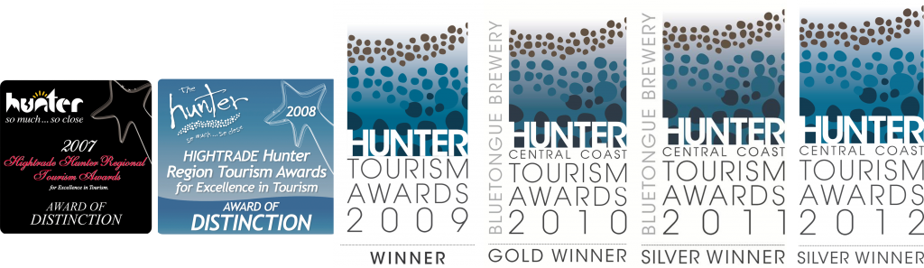 Hunter Accommodation - Best Deluxe Accommodation 2007 to 2012 Awards