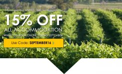 15% off all Accommodation