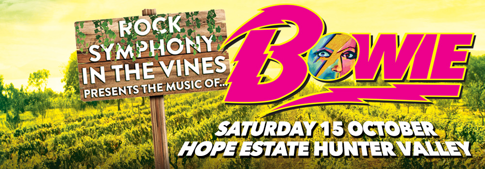 Rock Symphony in the Vines presents the music of David Bowie
